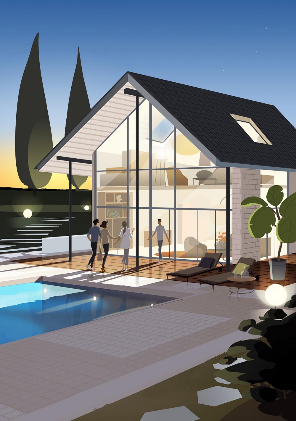 matthieu forichon promotion de la toiture en pente avec. Black Bedroom Furniture Sets. Home Design Ideas
